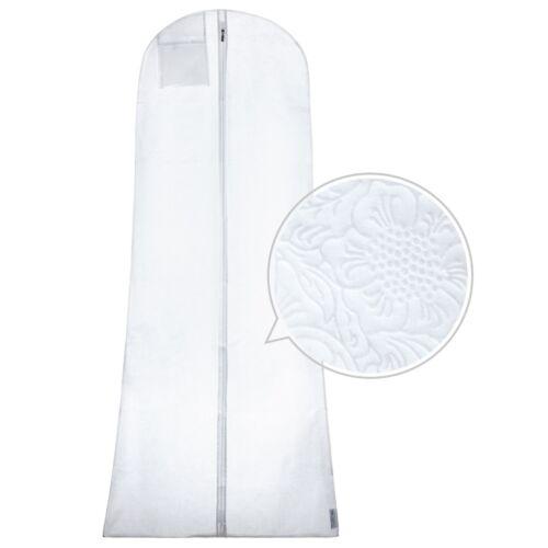 Hangerworld™ 182cm Housse Blanche Motif Floral Costumes et Robes Soirée Mariée