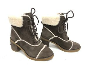 5dfcc78b5a4 Details about UGG Australia Esterly Boot BOOTS Mysterious Heels Lace Up  1095051 Heeled Suede