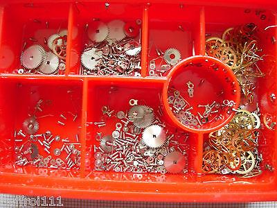 Ordelijk Lot Pieces Fourniture Pour Calibre Montre Ancienne As 1240 Een Plastic Behuizing Is Gecompartimenteerd Voor Veilige Opslag