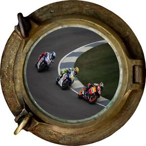 Huge-3D-Porthole-Moto-Gp-View-Wall-Stickers-Mural-Film-Art-Decal-Wallpaper-297