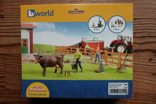 Set Coffret Fermier avec vache et accessoires Bruder 62605 Animaux de la Ferme