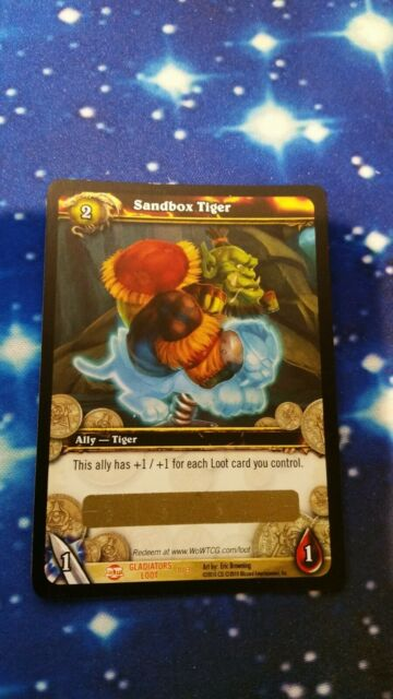 World Of Warcraft WoW TCG Loot Card Sandbox Tiger Spectral Toy Box Unscratched