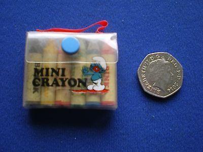 Les schtroumpfs mini crayon set-vieux shop stock 1980s