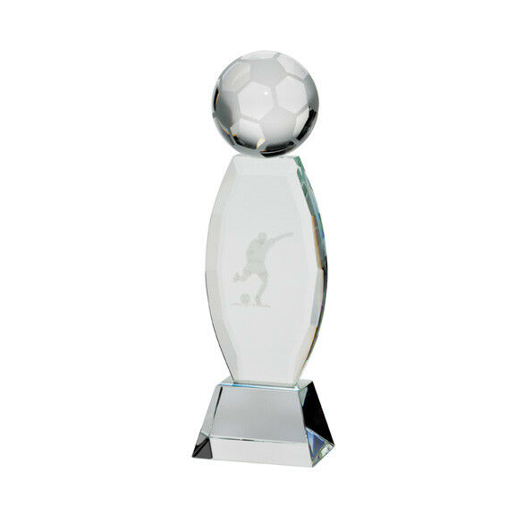 Infinity Crystal Football Trophy,190mm,Free Engraving (CR17110A) trd