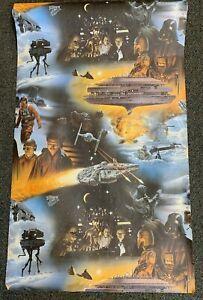 Vintage Star Wars Wallpaper Empire Strikes Back 1980 Lucasfilm 2 Rolls Ebay
