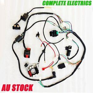 COMPLETE-ELECTRICS-QUAD-50-125cc-OHC-Zongshen-Loncin-generator-coil-harness-cdi
