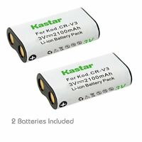 2x Kastar Battery For Cr-v3 Olympus C-750 C-750uz C-730 C-4040 C-4040z C-3020