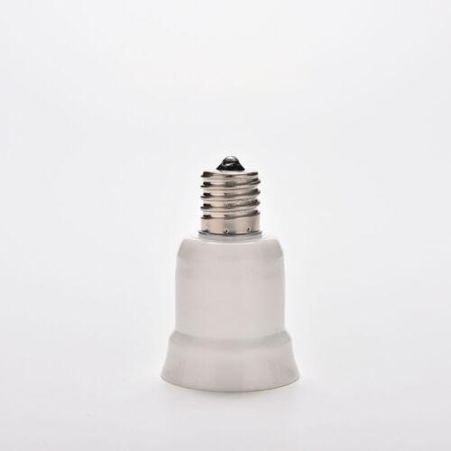 E17 to E27 Socket Base LED Halogen CFL Light Bulb Adapter Converter Holder ~id