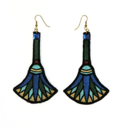 Dlx Egyptian Dangle Queen of Nile Cleopatra Women Costume Pierced Earrings B209