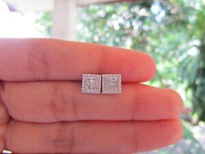 1.90 Carat Face Illusion Diamond White Gold Earrings 18k sepvergara