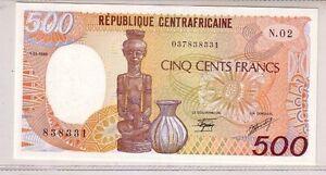 Repubblica-Centroafricana-500-franchi-1986-Pick-14b-FDS-UNC-lotto-2675