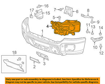 GMC GM OEM 15-18 Sierra 2500 HD Front Bumper-Outer Bracket Left 23178908