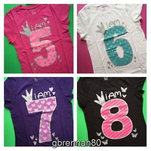 Image Is Loading NEW 5th 6th 7th 8th Girls BIRTHDAY Shirts