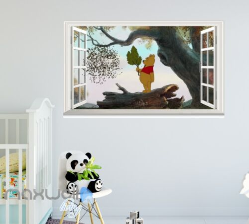 Winnie the Pooh cartoon bear Removable 3D window wall sticker art decals Kids
