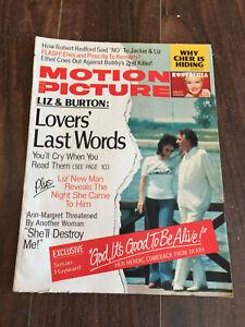 Vintage-Motion-Picture-Magazine-August-1974-Elivis-amp-Priscilla-Liz-amp-Burton