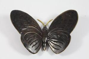 Skulptur-Figur-Bronze-teilpoliert-Schmetterling-Butterfly