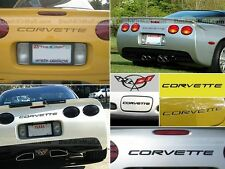 BLACK CHEVY CORVETTE C5 1997-2004 FRONT & REAR BUMPER LETTERS INSERTS NOT DECALS