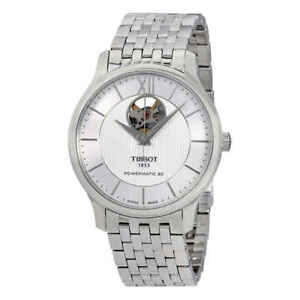 Tissot-Tradition-Automatic-Silver-Dial-Men-039-s-Watch-T0639071103800