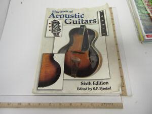 Industrieux Grande Référence Livre Bleu De Guitares Acoustiques 6th Edition-afficher Le Titre D'origine Pour Effacer L'Ennui Et éTancher La Soif