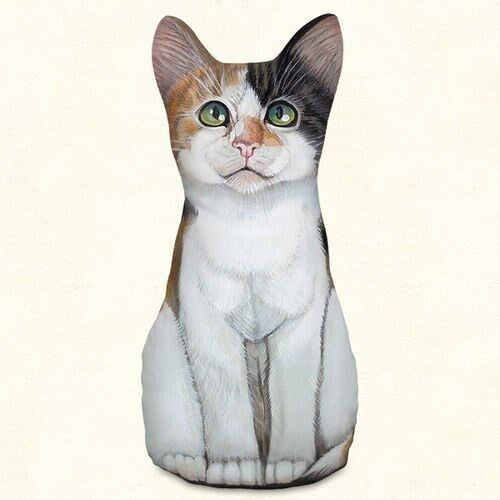 Fiddlers-Elbow-MINI-CALICO-KITTEN-CAT-Doorstop-Door-Stop-Paperweight-USA-Decor