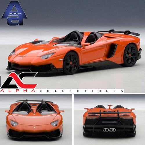 AUTOART 54652 1 43 LAMBORGHINI AVENTADOR J ARANCIO ARGOS PEARL Orange SUPERCAR
