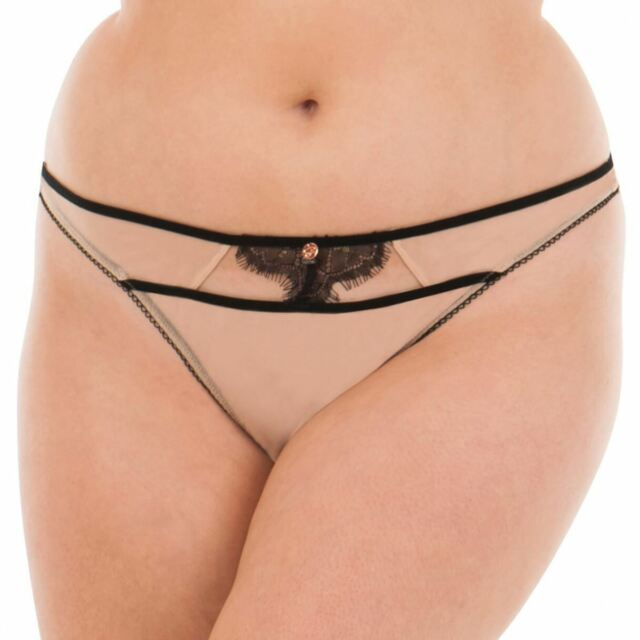 Scantilly by Curvy Kate Passion Thong Latte 3802 Size L   14      293110ed6