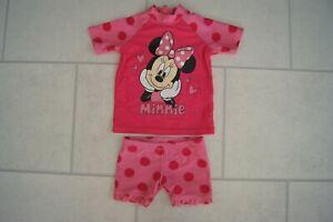 Cute Girls Boots Disney Minnie Mouse UV Sun Suit Age 6/9 Months VGC