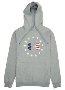 UNDER-ARMOUR-Freedom-Rival-Fleece-Hoodie-sz-M-Medium-Heather-Gray-USA
