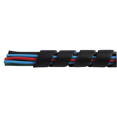 Durite 0-332-60 Spiral Cable Binding 3.2mm Black Nylon 1M