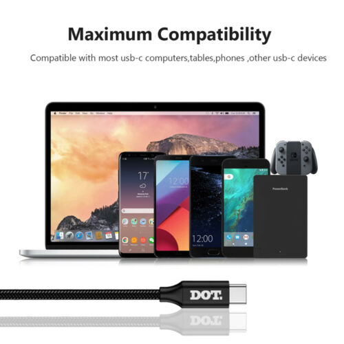 USB C to Type C PD Fast Charger Data Cable 100W 20V 5A For Huawei P30