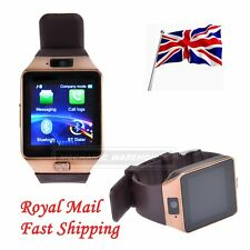 Bluetooth DZ09 Smart Wrist Watch For Android Phone with GSM SIM Card Slot Gold