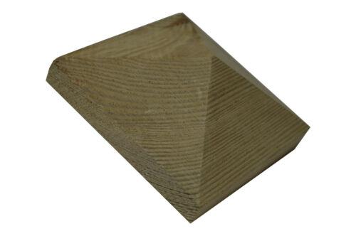 6X Pfostenkappe Pyramide Holz imprägniert 10X10 für 9X9cm Pfosten Abdeckung
