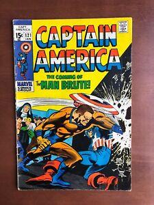 Captain-America-121-1970-5-0-VG-Marvel-Key-Issue-Comic-Bronze-Age-Stan-Lee