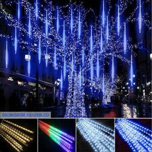 LED-Meteor-Shower-Lights-Waterproof-Falling-Rain-Icicle-Outdoor-Christmas-Decor