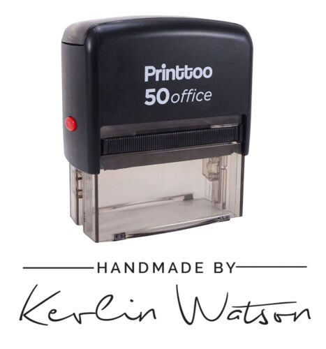 Self Inking Signature Font Handmade By Custom Envelope Rubber Stamp-PHS163