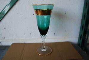 Verre A Vin A Pied En Cristal De Murano Couleur Vert Clair 12 Cm