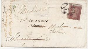 1855-LEEK-STAFFS-1d-STAR-COVER-UDC-CHORLEY-ARRIVAL-MULTI-REDIRECT-CHESHIRE-MCR