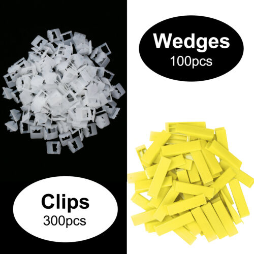Tile Leveling System 300 Clips 3mm 1 Adjustable Clamp 100 Wedges 1//8/""