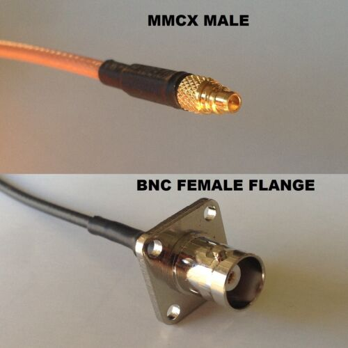 RG316 MMCX MALE to BNC Flange Female Coaxial RF Cable USA-US