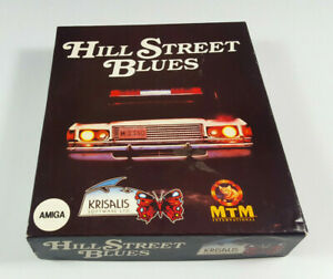 Hill-Street-Blues-Commodore-Amiga-Spiel-Big-Box-OVP-VGC-CIB-Vintage-Collectible