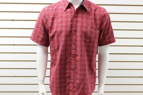Men's Marmot Pacifica Short Sleeve Plaid Shirt Red Spice 53780 New With Tag