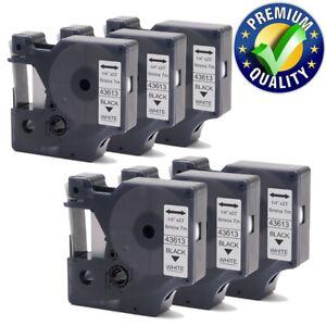 3x Schwarz auf Weiß 9mm Beschriftungsbänd für Dymo D1 40913 LabelManager 300 400