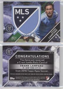 Voetbal Verzamelingen 2016 Topps Apex Crest Jumbo Relics #CJR-FL Frank Lampard New York City FC Card