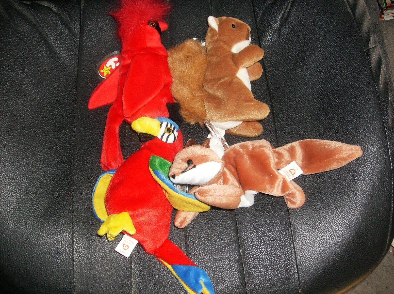 TY BEANIE BABIES. SLY, NUTS, MAC, JABBER