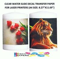 Clear Water Slide Decal Transfer Paper For Laser Printers: 25 Sheets (a4 Size)