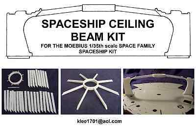 Jupiter 2 Ceiling beam kit for the Moebius 1:35th scale kit.