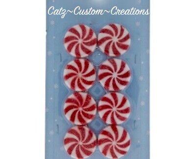 Fake Candy Cane TREE ORNAMENT Clay 4.Cupcake ST NICHOLAS RETIRED Xmas Decor New