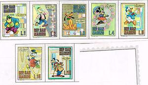 San Marino Disney Famous Cartuns stamps 1970 MLH