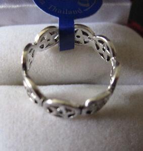 RING of PENTACLES .925 STERLING SILVER, Pentagram