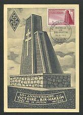 France MK 1952 Bir-Hakeim monumento Monumento Military MAXIMUM CARD MC cm d4875